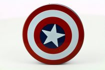 Captain America contact lens storage kit, Color: red