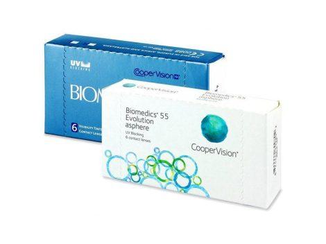 Biomedics 55 (6 lenses, BC: 8.8)